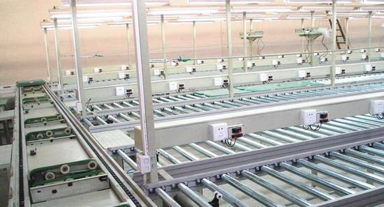 Roller belt production line