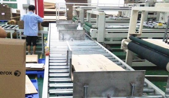 Automatic drum packaging line