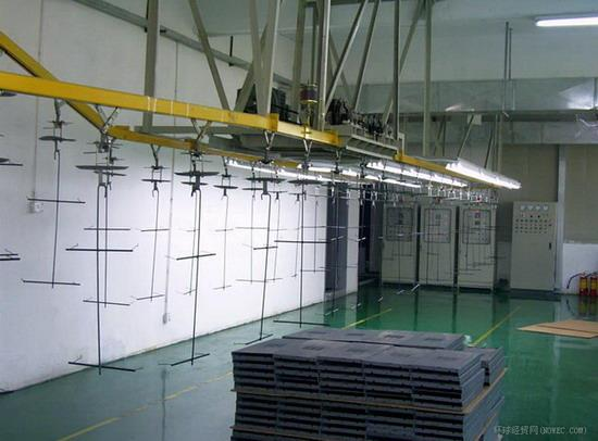 Metal spraying suspension production line