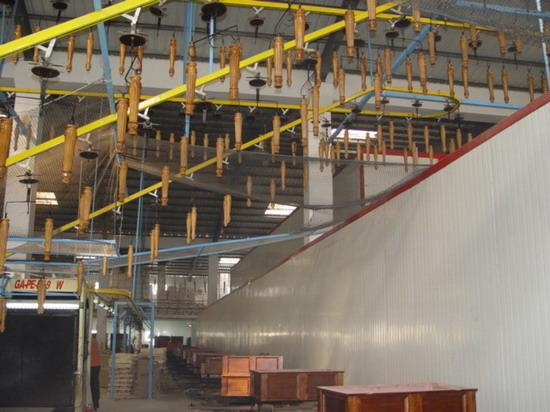 Suspension coating line