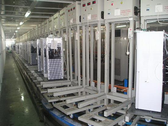 Water dispenser assembly test line