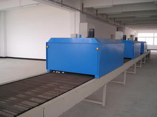 Stainless steel mesh belt drying line