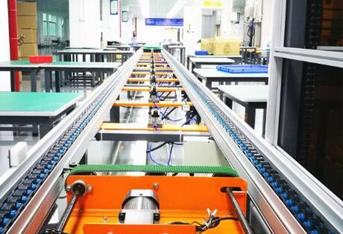 The role and layout of the suspension chain conveyor line
